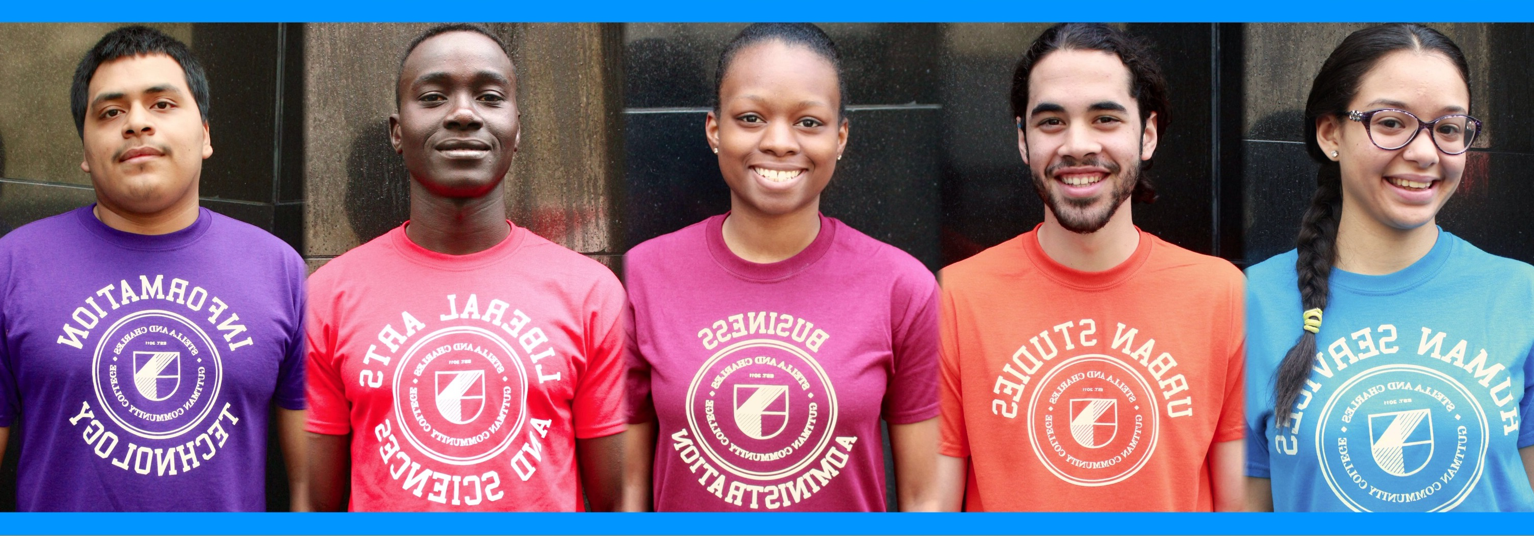 students wearing programs of study tshirts